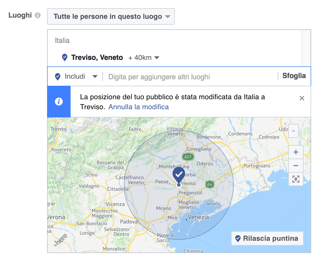 Facebook Adv per Local business
